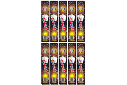200 x Medium 10inch Gold Sparklers inc. Postage