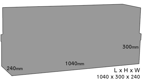 Brothers Godfather Compound Display Dimensions