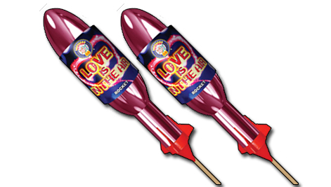 Brothers Love Is In The Air Heart Rocket