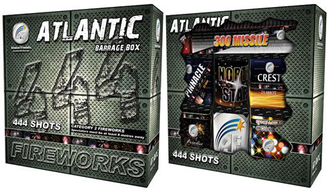 Absolute Fireworks Atlantic Barrage Box (Cat 2)