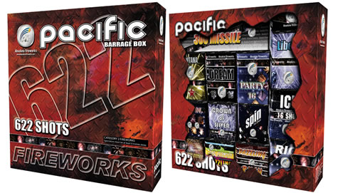 Absolute Fireworks Pacific Barrage Box  (Cat 2)