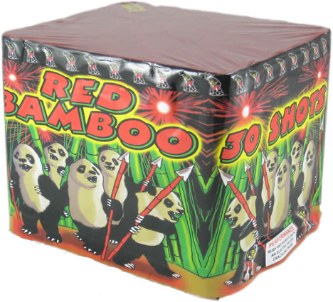 Fireworks International Red Bamboo