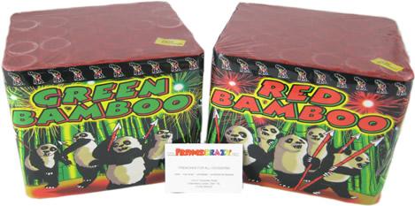 Fireworks International Red + Green Bamboo