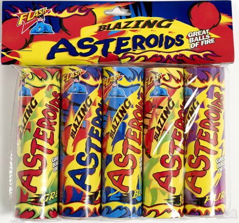 Flash Fireworks Blazing Asteroids