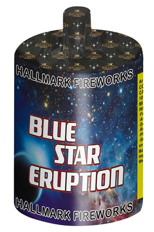 Blue Star Eruption by Hallmark Fireworks