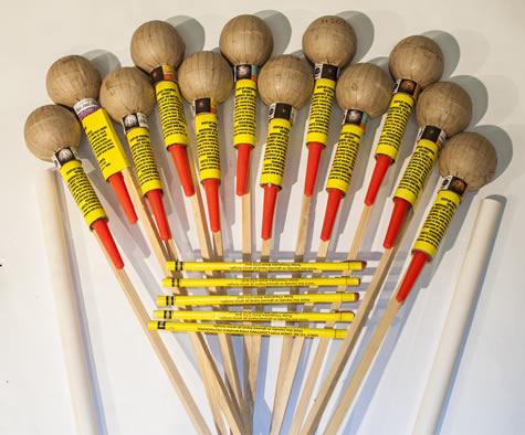Vulcan 12 x 3 inch ball head rockets