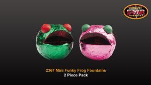 mini funky frogs fountains