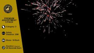 premium assortment 5 pack fireworks