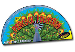 Standard Fireworks Peacock Fountain Small