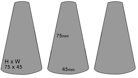 Standard FIreworks Traffic Cones Dimensions