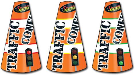 Standard FIreworks Traffic Cones