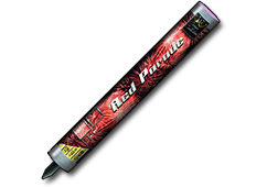 Zeus Fireworks Red Parade Candle Thumb