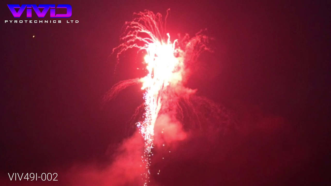 large red vivid fireworks