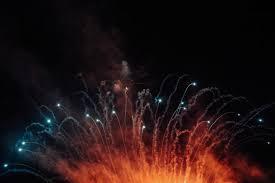 large wide fireworks