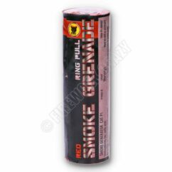 Red Smoke Grenade - By Black Cat Fireworks