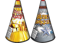 "Jonathans Fireworks 6"" Silver & Gold Fountain Pack"