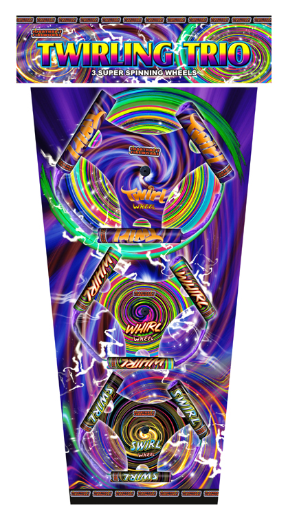 Twirling Trio Wheel Pack by Jonathans Fireworks