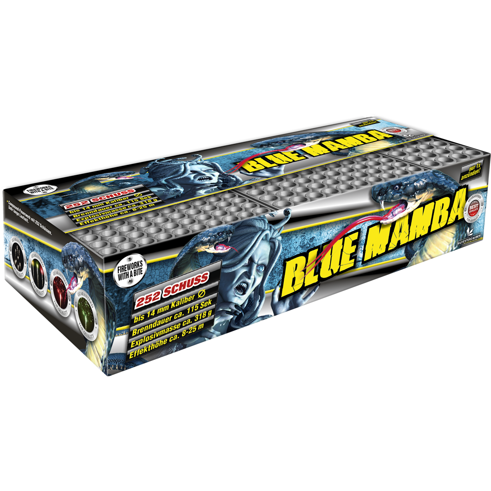 Blue Mamba by Lesli Fireworks